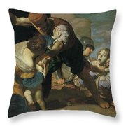 The Massacre Of The Innocents  After       Throw Pillow