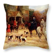 The Meet By Heywood Hardy Throw Pillow