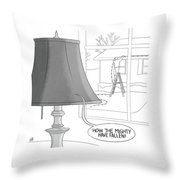 The Mighty Have Fallen Throw Pillow