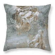 The Miracle Of The Sacred Belt  Rec  Throw Pillow