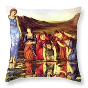 The Mirror Of Venus 1875 Throw Pillow