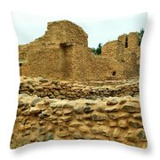 The Mission At Jemez Springs Throw Pillow