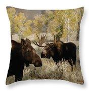 The Moose Rut Throw Pillow