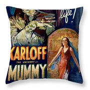 The Mummy 1932 Film Throw Pillow