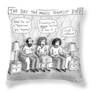 The Music Finally Died Throw Pillow