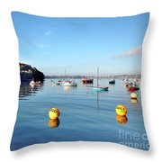The Mylor Dolphin Throw Pillow