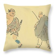 The Narrow Road To The Deep North Throw Pillow