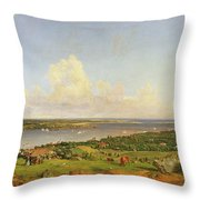 The Narrows From Staten Island Throw Pillow