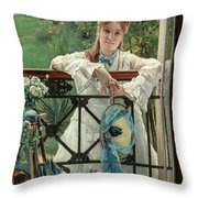 The New Blue Ribbon Throw Pillow