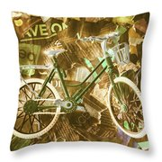 The News Cycle Throw Pillow