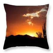 The Night Begins Throw Pillow