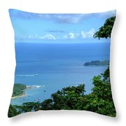 The North Bay As Seen From Mount Harriett Throw Pillow