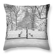 The North Gates Throw Pillow by Kendall McKernon