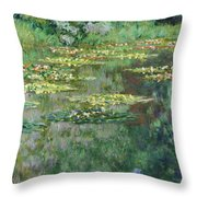 The Nympheas Basin - Digital Remastered Edition Throw Pillow