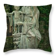 The Offering Statue Throw Pillow