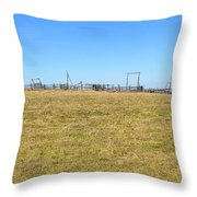The Old Corral On The Hillock    Throw Pillow