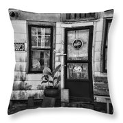 The Old Country Store Black And White Throw Pillow