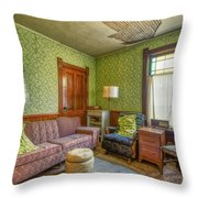 The Old Farmhouse Living Room Throw Pillow
