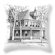 The Old Governors Mansion,  Helena, Montana Throw Pillow