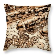 The Old Naval War Room Throw Pillow