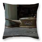 The Old Oil Can Throw Pillow
