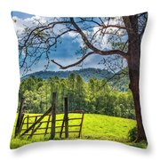 The Old Red Gate Throw Pillow