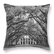 The Old South Version 3 Bw Throw Pillow