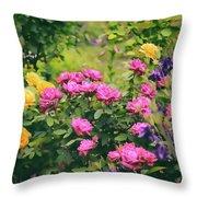 The Painted Garden Throw Pillow