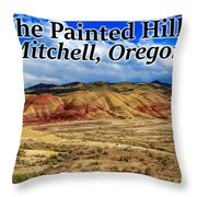 The Painted Hills Mitchell Oregon 02 Throw Pillow