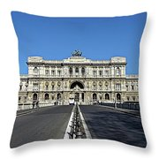 The Palace Of Justice, Rome, Italy Throw Pillow