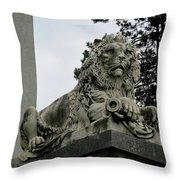 The Patterson Lion Throw Pillow