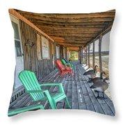 The Porch Throw Pillow
