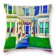 The Prince Albert Guesthouse-provincetown, Massachusetts  Throw Pillow