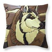 The Proud Husky Throw Pillow