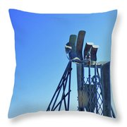 The Provider At Chatham Fish Pier Throw Pillow
