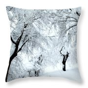 The Pure White Of Snow Throw Pillow