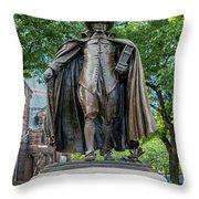 The Puritan Statue Throw Pillow