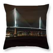 The Queensferry Crossing Throw Pillow by Ross G Strachan