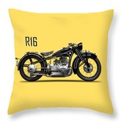 The R16 Motorcycle Throw Pillow