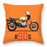 The R90s Motorcycle Throw Pillow
