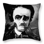 The Raven Edgar Allan Poe Throw Pillow