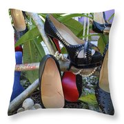 The Red Sole Shoes 4 Throw Pillow