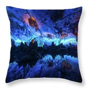 The Reed Flute Cave, In Guangxi Province, China Throw Pillow