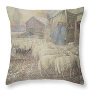 The Return Of The Shepherd Throw Pillow