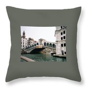 The Rialto Bridge  Throw Pillow