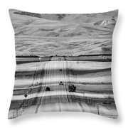 The Road From Casper Throw Pillow