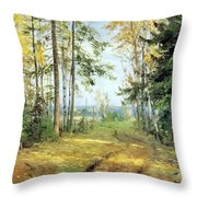 The Road Into The Forest Throw Pillow