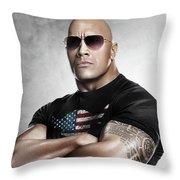 The Rock Dwayne Johnson I I Throw Pillow