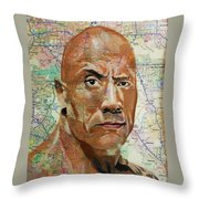 The Rock From California Throw Pillow