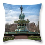 The Ross Fountain Throw Pillow by Ross G Strachan